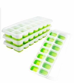 OMorc Ice Cube Trays 4 Pack, Easy-Release Silicone Flexible