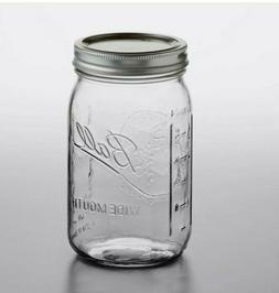 Individual Ball Mason Jar 32 oz/ 1 quart wide mouth with lid