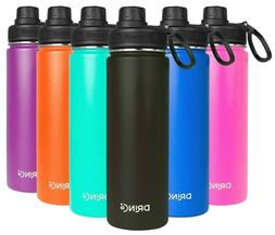 DRINCO Insulated Stainless Steel Water Bottle 20 oz. With Sp