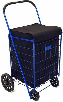 Jumbo Shopping Cart Liner Cover With Top Lid Cover