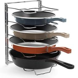 Kitchen Cabinet 5 Adjustable Compartments Pan and Pot Lid Or