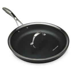 KitchenAid Hard Anodized Nonstick Skillet with Flat Glass Li