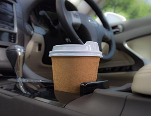 100 Disposable Cups with Lids Double-Layer Insulation,