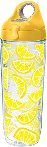 Tervis 1243345 Lemon Trend Tumbler with Wrap and Yellow Lid