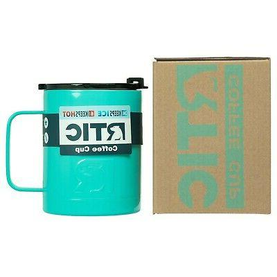 RTIC 12oz Coffee Cup Teal - Double Wall Vacuum Insulated, Wi
