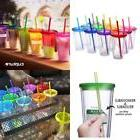 16 Oz Insulated Tumbler Cups With Lids Assorted Colors Pack