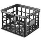 Sterilite 16929006 Plastic Black Storage Box Crate