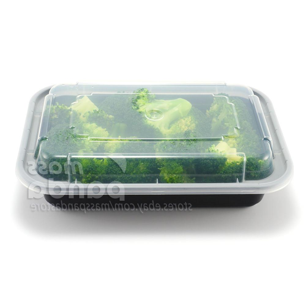 16oz Meal Prep Containers Lids, Reusable
