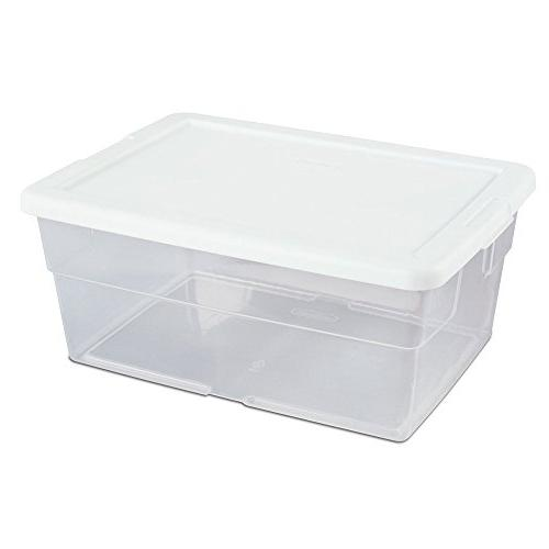 Sterilite 16448012 Quart See Storage Box With 16x12x7