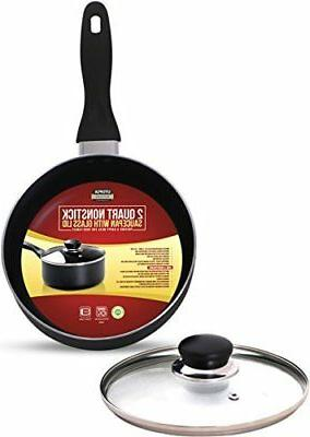 2 Quart Saucepan with Glass Lid Bottom Utopia