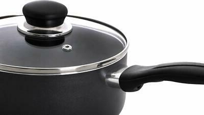 2 Quart Nonstick with Glass Lid Bottom Kitchen
