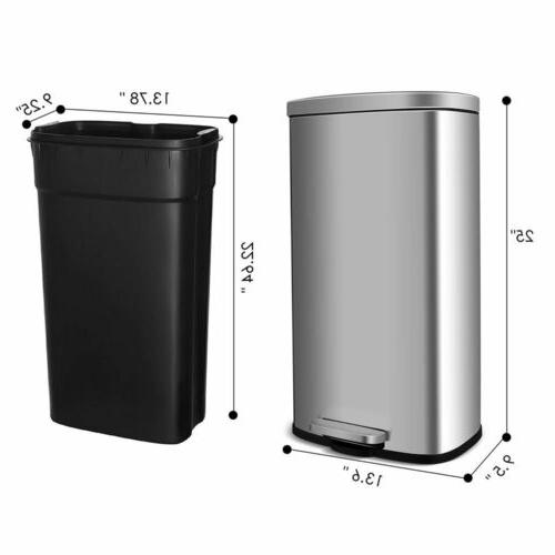30L Can Rectangular Garbage Bin with Lid and