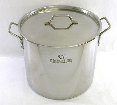 32 QT Quart 8 Gallon Stainless Steel Stock Pot Steamer Brew