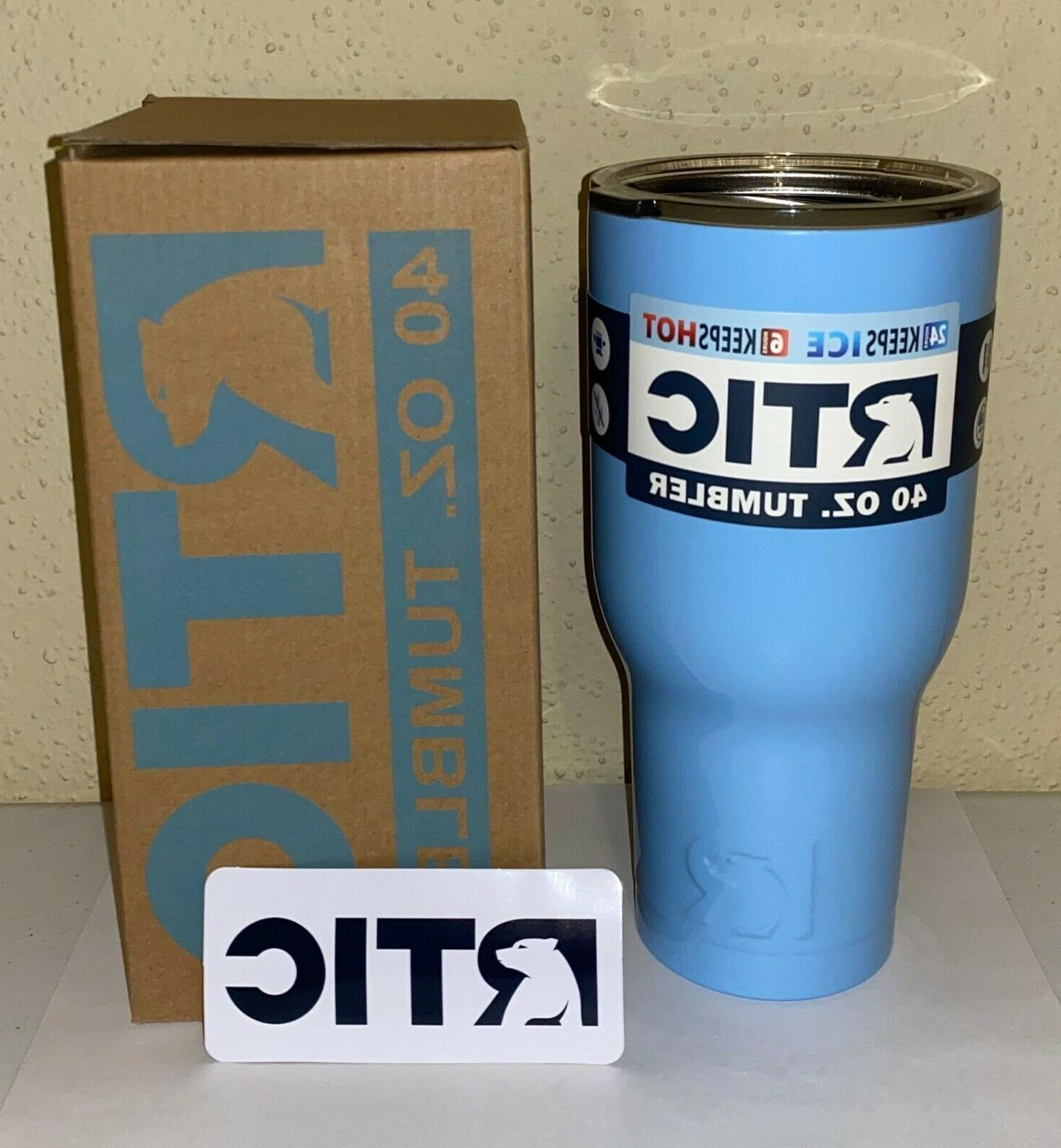 40oz tumbler with lid and decal