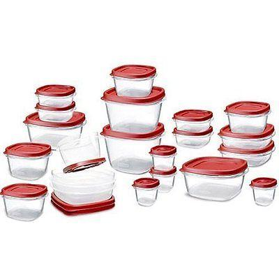 Rubbermaid 42 Piece Food Storage Set Plastic Containers Lids