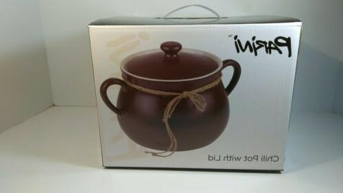 5 qt chili pot ceramic with lid