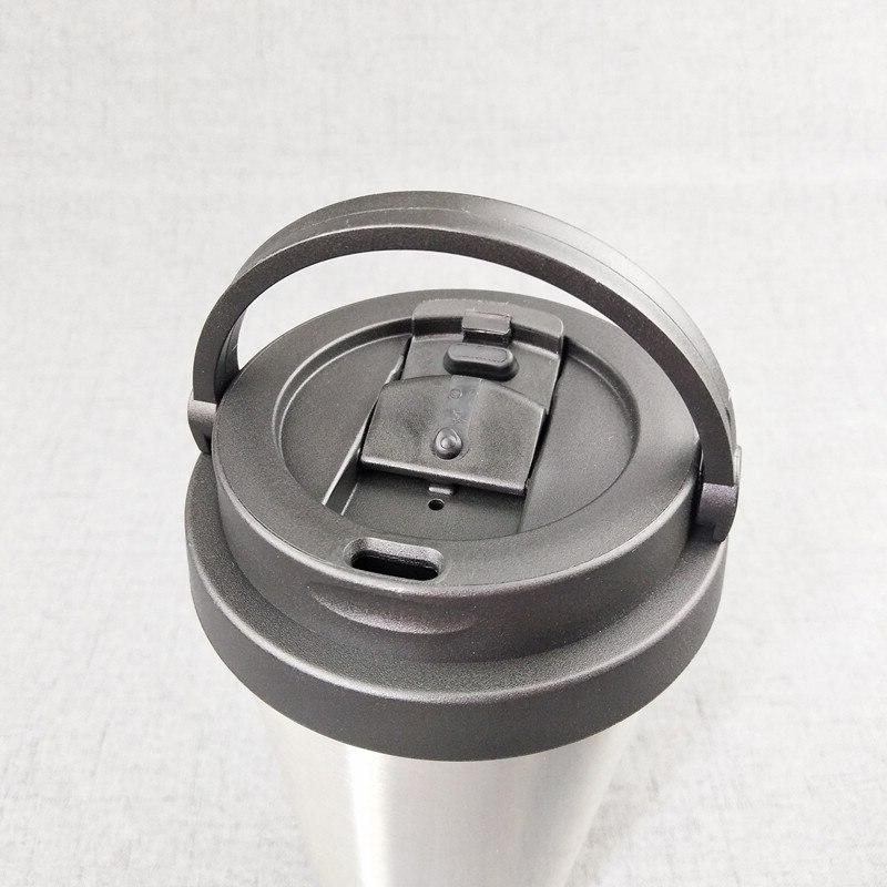 UPORS 500ML Coffee Creative Travel Double Wall Vacuum Insulated Wide Mouth Cup <font><b>Lid</b></font>