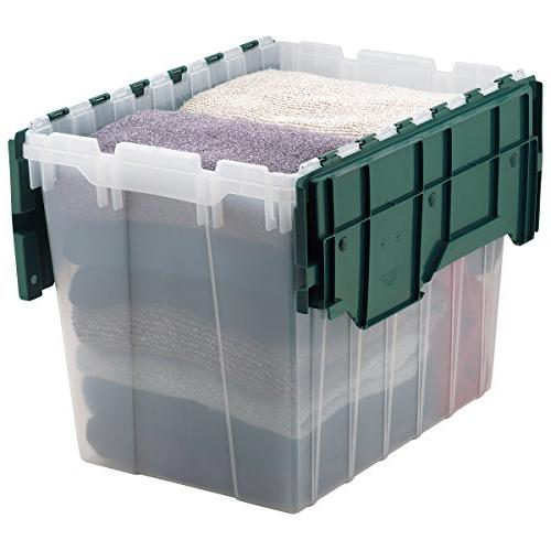 Akro-Mils 66497CLDGN 15 Clear Storage Box Attached Lid