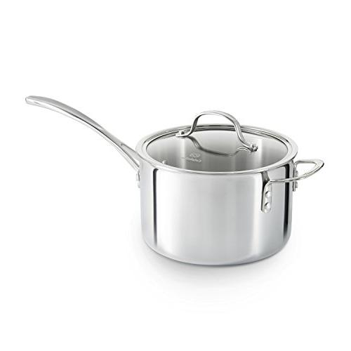 Calphalon Tri-Ply Stainless Steel 4.5-qt. Sauce with Cover -