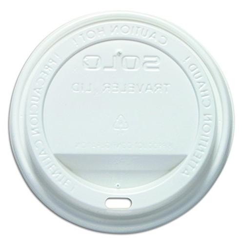 Solo TLP316-0007 White Traveler Plastic Lid - For Solo Paper