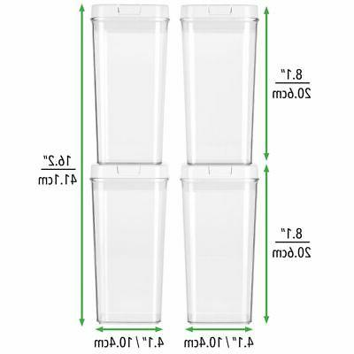 mDesign Airtight Food Container with Kitchen, 4 - Clear