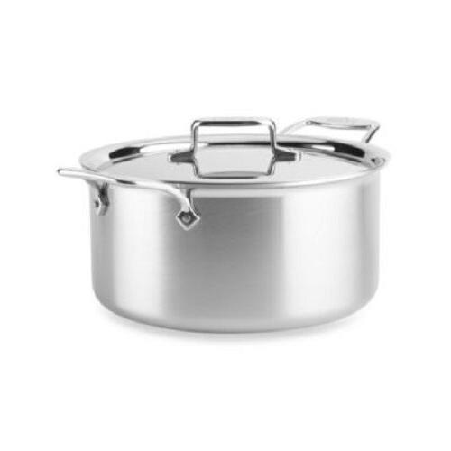 All-Clad D55508NS  D5 Polished Non-Stick  5-Ply Dishwasher S