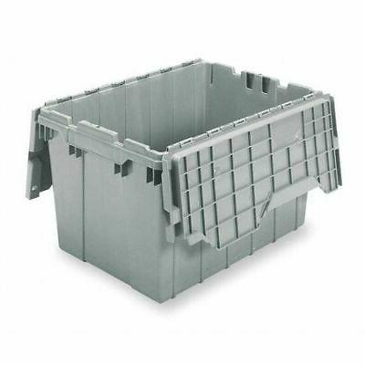 Attached Lid Container, 1.62 cu ft., Gray AKRO-MILS 391204W0
