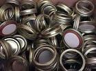 Ball Mason Canning Jar Ring Band Lids 50 Regular Mouth Gold