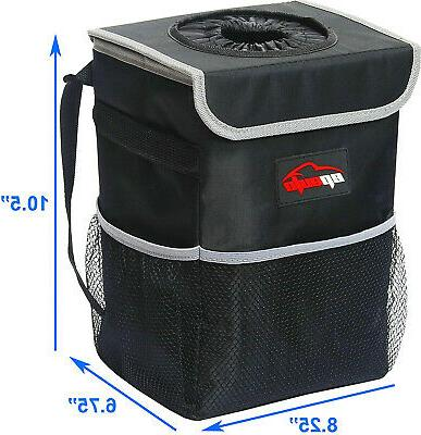 EPAuto Car Trash Can with Storage and Lining