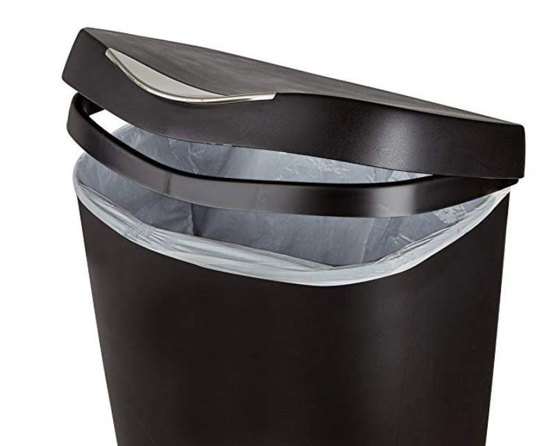 Black Can Trash 13 Gallon With Lid Step Free Touch