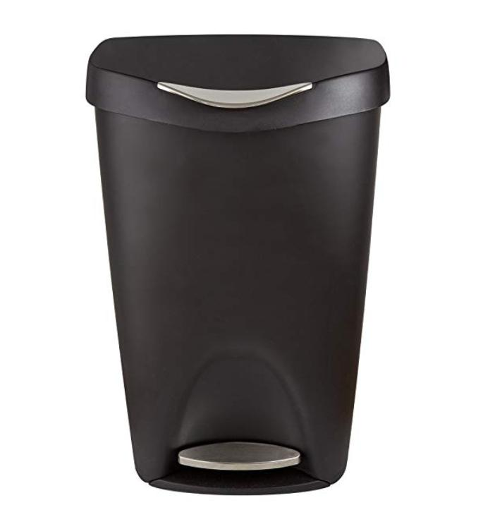 Black Trash 13 Gallon With Lid Touch
