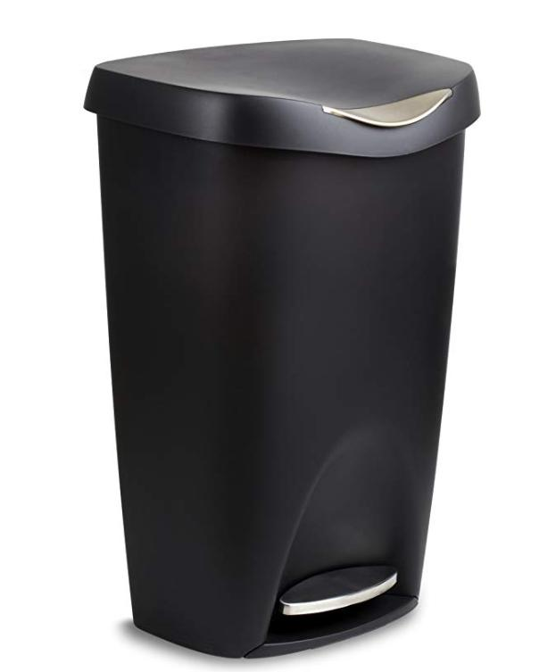 Black Stainless Can Trash 13 Kitchen With Touch Bin