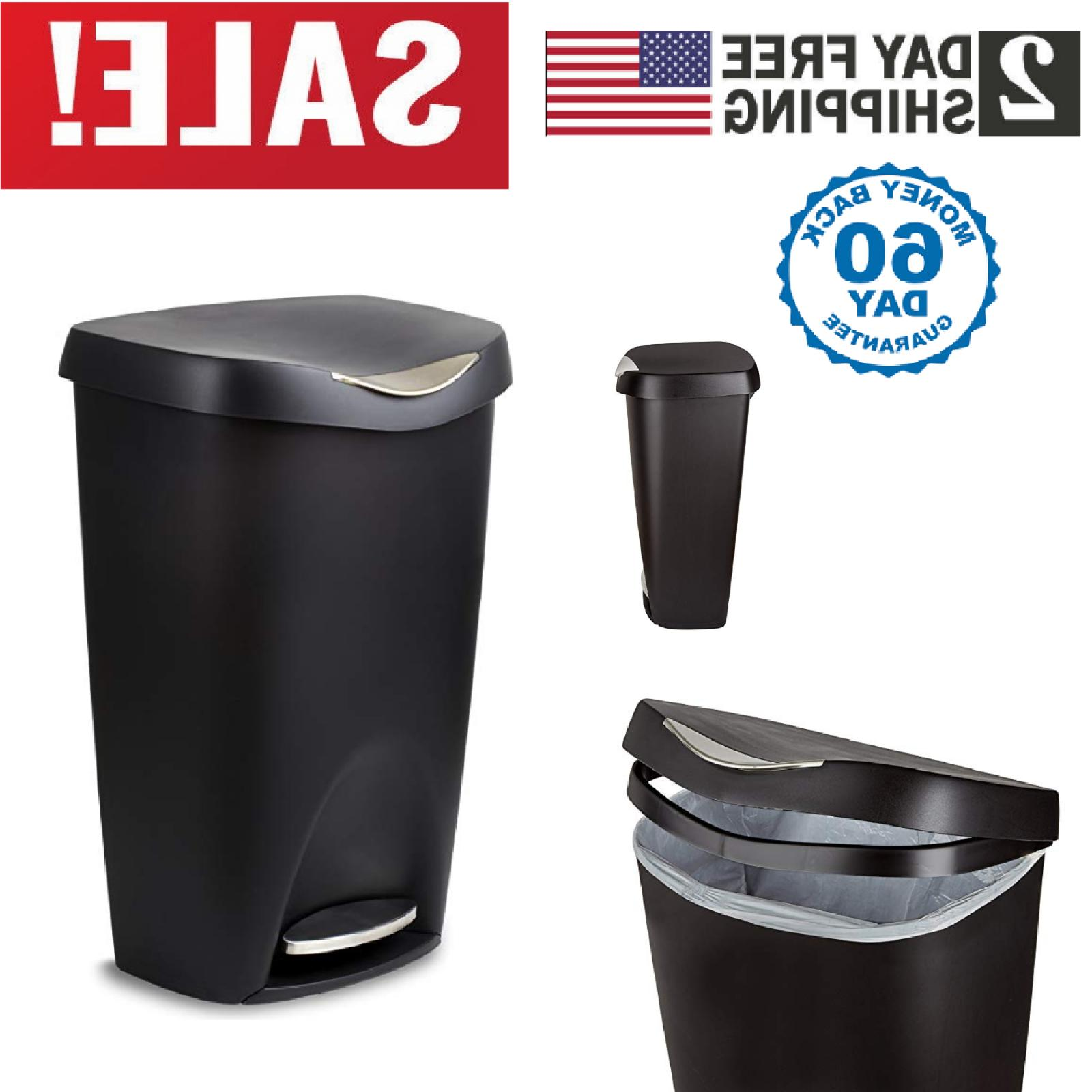 black stainless steel can trash 13 gallon