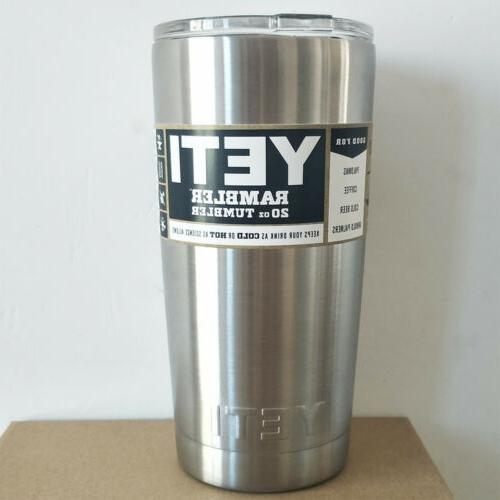 brand new rambler tumbler 20oz stainless steel