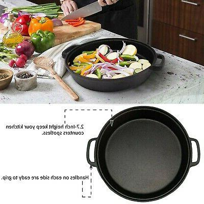 Tempered Glass Lid, Double Handled Cast D...