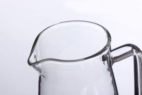 Clear Pitcher with Lid Cap Kitchen Water Milk Fruit Jug