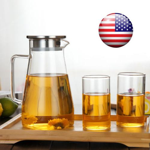clear glass pitcher with lid cap home