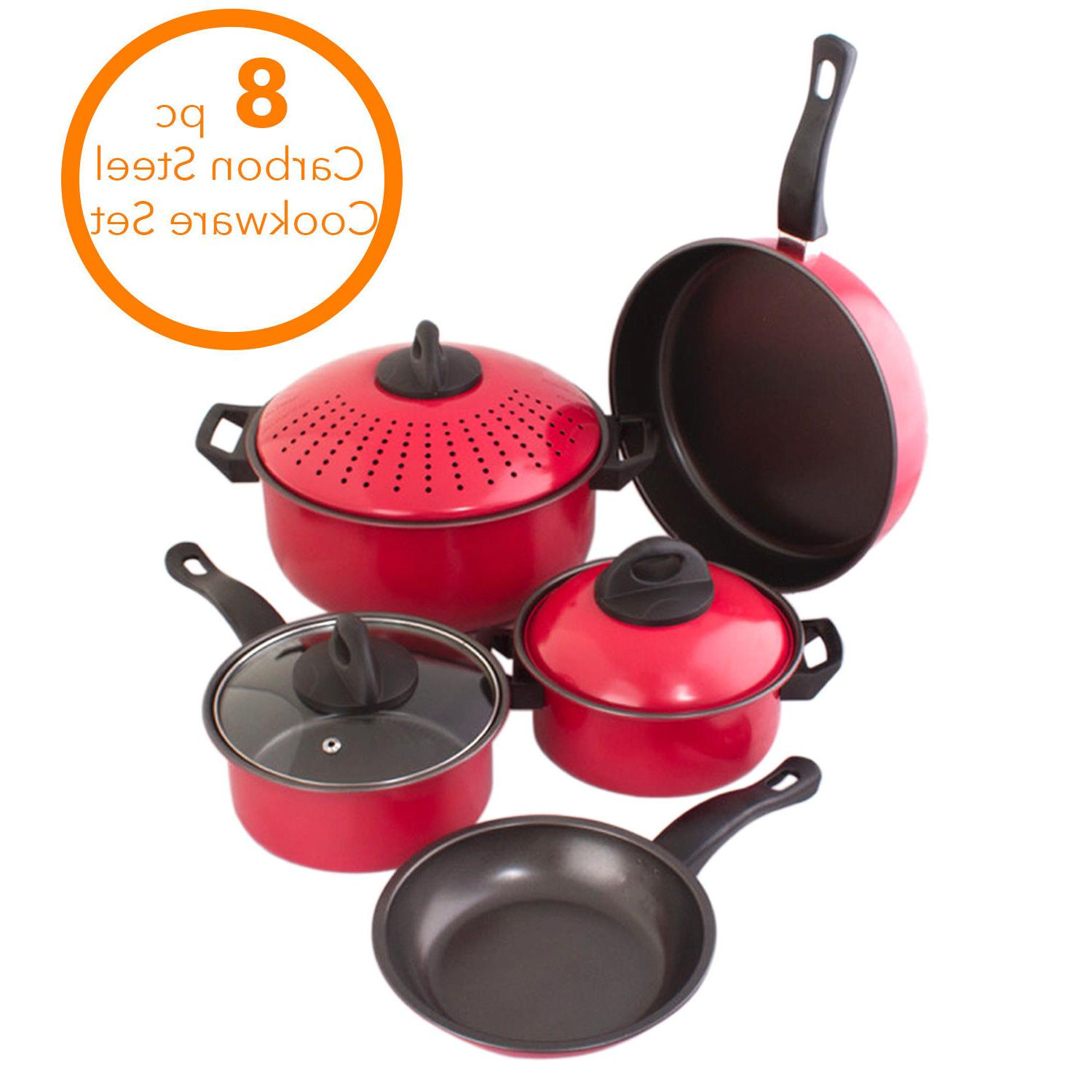 Cookware Kitchen Pot With Strainer Sauce Frying pcs.