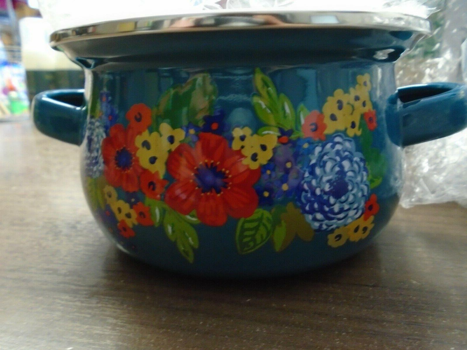 The Pioneer Woman Dazzling Dahlias Mini Dutch Ovens With Lid