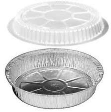 Disposable Aluminum Foil Pans With Clear Plastic Lids, 9 Inc