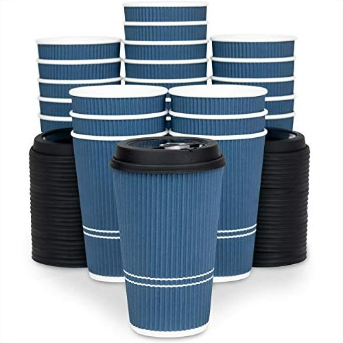 With - oz Cup Large Travel Cups Hold Shape Hot Cold No Ripple Cups Protect Sleeves needed!