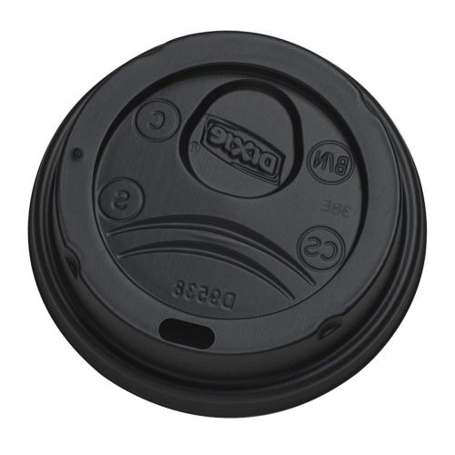 Dixie DL9538B Black Dome Lid for 8-Ounce Insulated Paper Hot