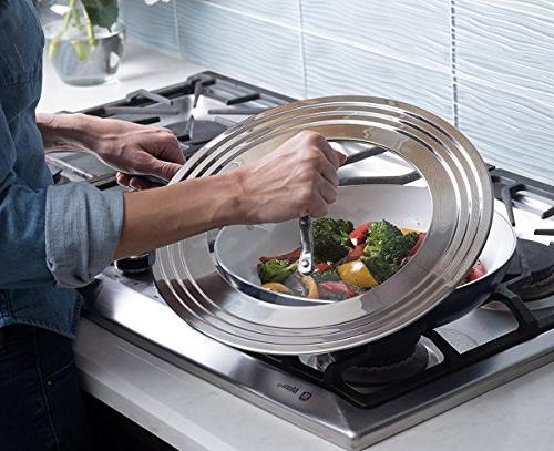 "Elegant Stainless Glass All 7"" Pots and Replacement Frying Pan Cookware Innovations"