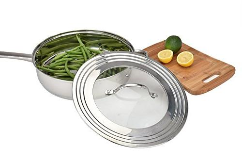 Elegant Stainless Glass Universal All Frying Pan Cover and Cookware Innovations