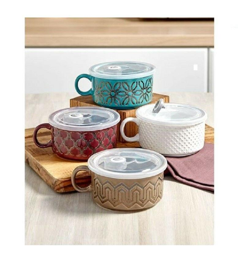 embossed souper mugs with lid 22 oz