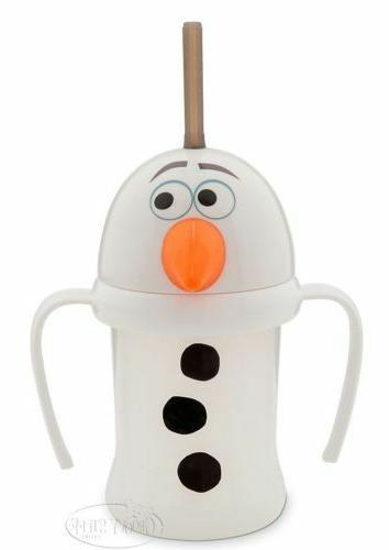 Disney Store FROZEN Olaf Cup with Lid and Straw for Kids Tum