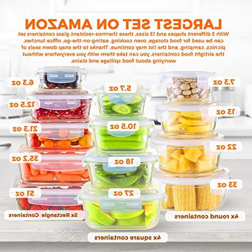 Glass Storage Containers - Meal Prep Container On Oven, Freezer, Best For Lunch & Pantry Free