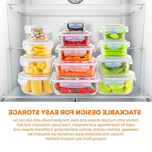 Glass Food - Meal Prep Container On Oven, Freezer, Dishwasher Safe. Best For Lunch & - Free