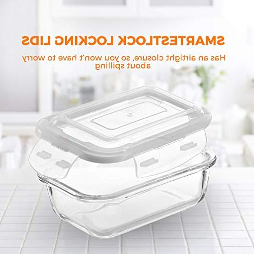 Glass Food - Container With On Lids Microwave, Oven, Best & Pantry BPA Free
