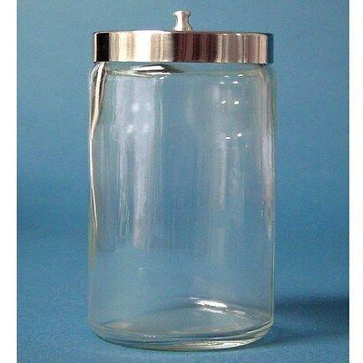 glass sundry jar with lid medical supplies